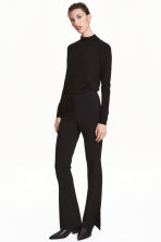 Suit trousers with slits - Black - Ladies | H&M 1