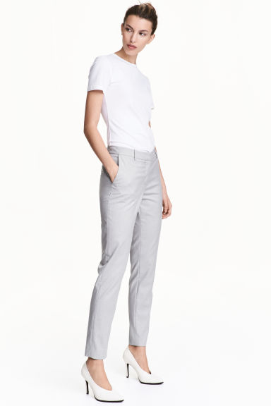 Suit trousers - Light grey - Ladies | H&M 1