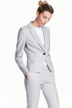 Fitted jacket - Light grey -  | H&M CN 1