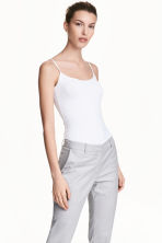 Strappy viscose top - White - Ladies | H&M 1