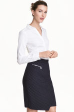 Stretch shirt - White - Ladies | H&M CA 1