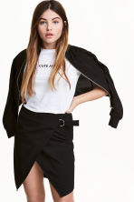 Wrap skirt - Black - Ladies | H&M CN 1