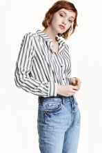 Cotton shirt - White/Black striped - Ladies | H&M 1