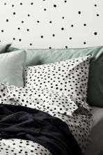 Washed cotton pillowcase - Dusky green - Home All | H&M CN 1