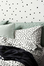 Spotted duvet cover set - White/Black - Home All | H&M CN 1