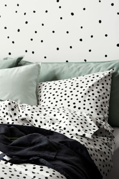 Set copripiumino a pois - Bianco/nero - HOME | H&M IT 1