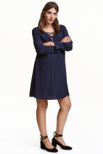 MAMA Dress with lacing - Dark blue - Ladies | H&M CN 1