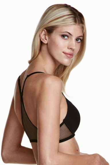 Reggiseno push-up con mesh - Nero -  | H&M IT