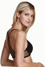Push-up bra with mesh back - Black - Ladies | H&M 1