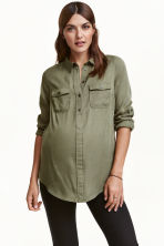 MAMA 襯衫 - Khaki green - Ladies | H&M 1