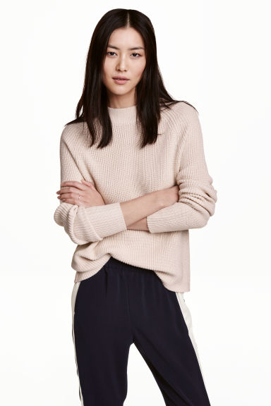 Knitted jumper - Light beige - Ladies | H&M 1