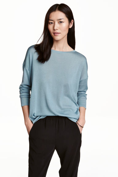 Pullover in maglia fine - Turchese - DONNA | H&M IT 1