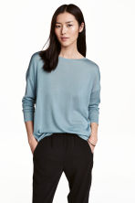Fine-knit jumper - Turquoise - Ladies | H&M 1