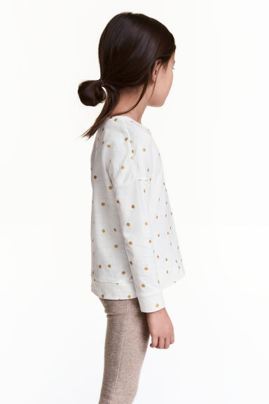 Long-sleeved top - White/Spotted - Kids | H&M 1