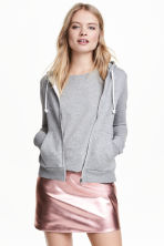 Hooded jacket - Grey marl - Ladies | H&M CA 1