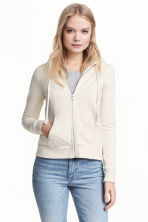 Hooded jacket - Light beige - Ladies | H&M CN 1