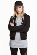 Hooded jacket - Black - Ladies | H&M CA 1
