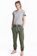 Sweatpants - Khaki green -  | H&M 1