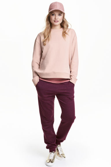 Sweatpants - Plum -  | H&M CN 1