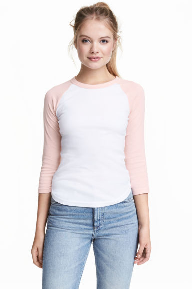 Baseball shirt - Powder pink - Ladies | H&M CN 1