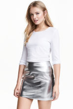 Long-sleeved jersey top - White - Ladies | H&M GB 2