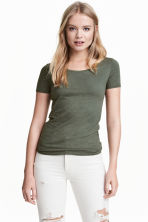 平紋上衣 - Khaki green - Ladies | H&M 2