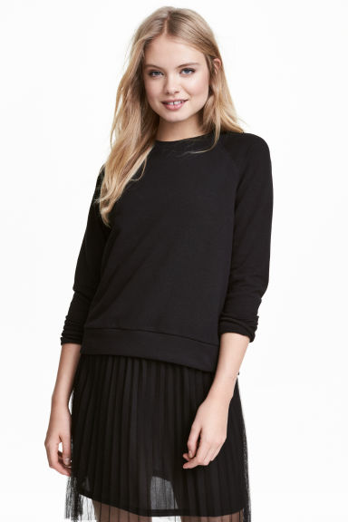 Sweatshirt - Black - Ladies | H&M 1