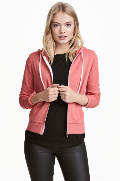Hooded jacket - Terracotta pink - Ladies | H&M