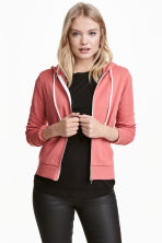 Hooded jacket - Terracotta pink - Ladies | H&M CN 1