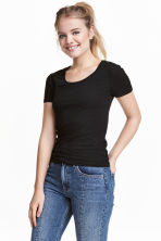 Jersey top - Black - Ladies | H&M CA 2