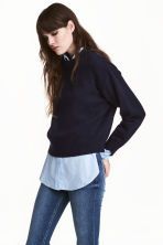Knitted jumper - Dark blue -  | H&M 1