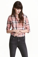 Flannel shirt - Powder pink/Checked - Ladies | H&M 1
