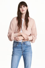 Short bomber jacket - Powder pink - Ladies | H&M CA 1