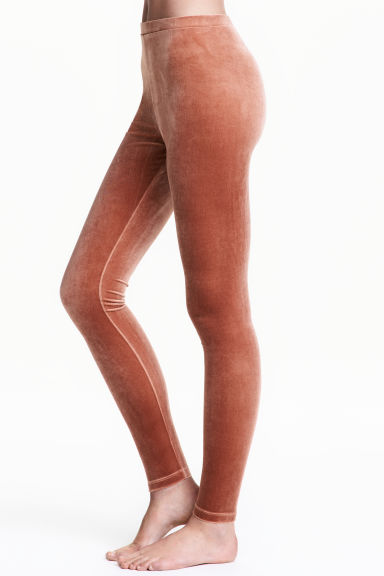 Velour leggings - Rust - Ladies | H&M CN 1