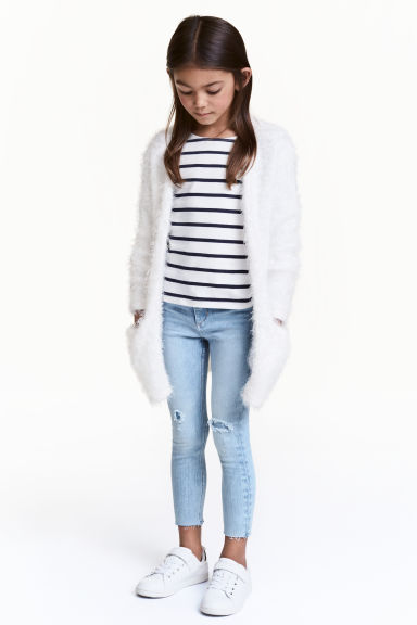 Knitted cardigan - White -  | H&M 1
