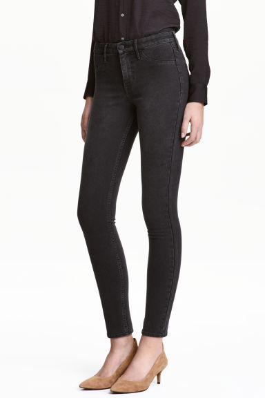 Skinny Regular Ankle Jeans - 深牛仔灰 - Ladies | H&M CN 1