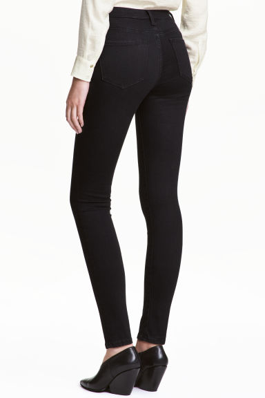 Shaping Skinny Regular Jeans - Black denim - Ladies | H&M CN 1
