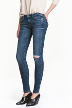 Super Skinny Low Jeans - Denim blue trashed - Ladies | H&M 1