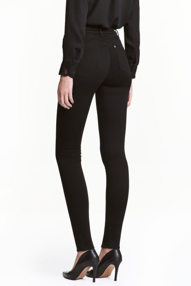 Shaping Skinny High Jeans - Black/No fade black - Ladies | H&M 1