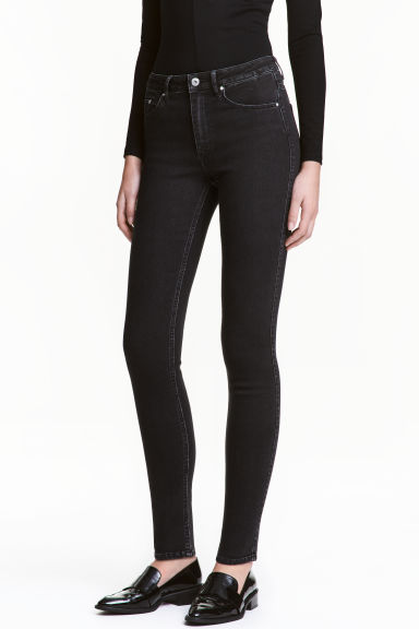 Skinny High Jeans - Black - Ladies | H&M GB