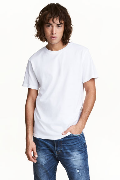 Round-necked T-shirt - White -  | H&M CN 1