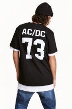 Printed T-shirt - Black/AC/DC - Men | H&M 1