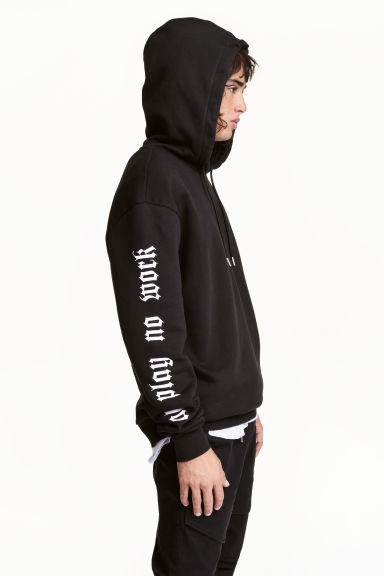 Printed hooded top - Black/Snake - Men | H&M 1
