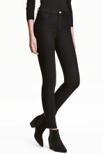 Skinny High Ankle Jeans - Black denim - Ladies | H&M GB 1