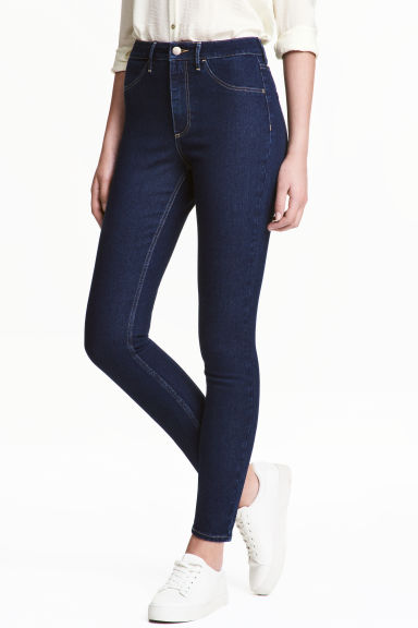 Skinny High Ankle Jeans - Dark denim blue - Ladies | H&M 1