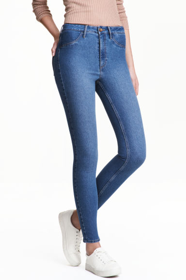 Skinny High Ankle Jeans - Denimblauw - DAMES | H&M NL 1