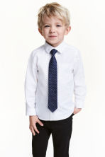 Shirt with a tie/bow tie - White - Kids | H&M 1