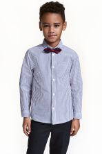 Shirt with a tie/bow tie - Dark blue/Striped - Kids | H&M 1