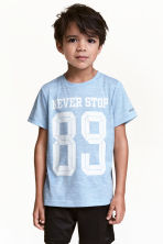 Short-sleeved sports top - Blue marl - Kids | H&M 1