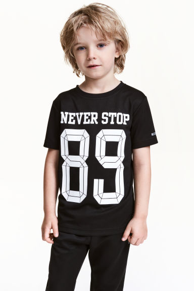 Short-sleeved sports top - Black - Kids | H&M CA 1
